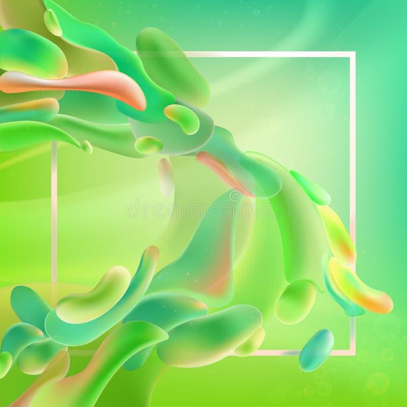 Projeto líquido do fundo da cor O inclinação fluido dá forma à composição Cartazes do projeto Ilustração do vetor ilustração royalty free