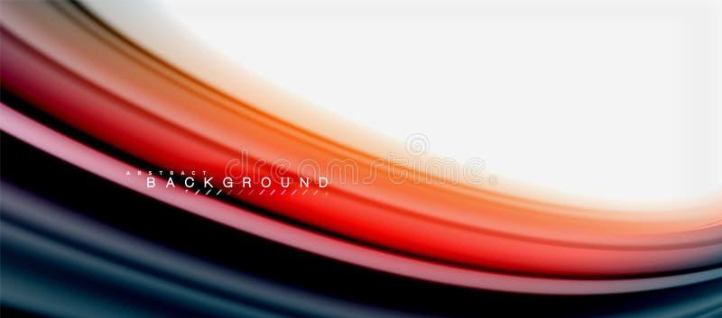 Projeto líquido torcido das cores do líquido do arco-íris fundo abstrato, mármore colorido ou contexto ondulado plástico da textu ilustração royalty free