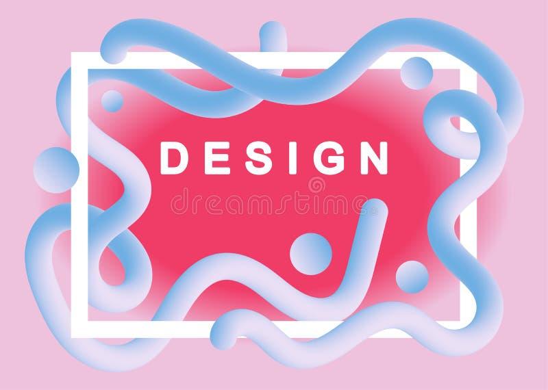Projeto l?quido do fundo da cor Formas fluidas na moda do inclinação Cartazes futuristas do projeto Vetor Eps10 ilustração royalty free