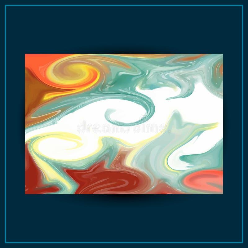 Projeto l?quido do fundo do m?rmore da pintura Textura do m?rmore do vetor do sum?rio pode ser usado como um fundo na moda para o ilustração stock