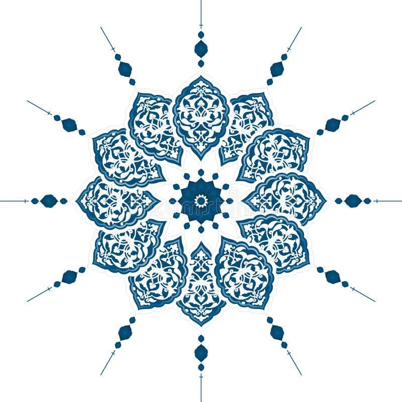 Projeto limpo do otomano tradicional ilustração stock
