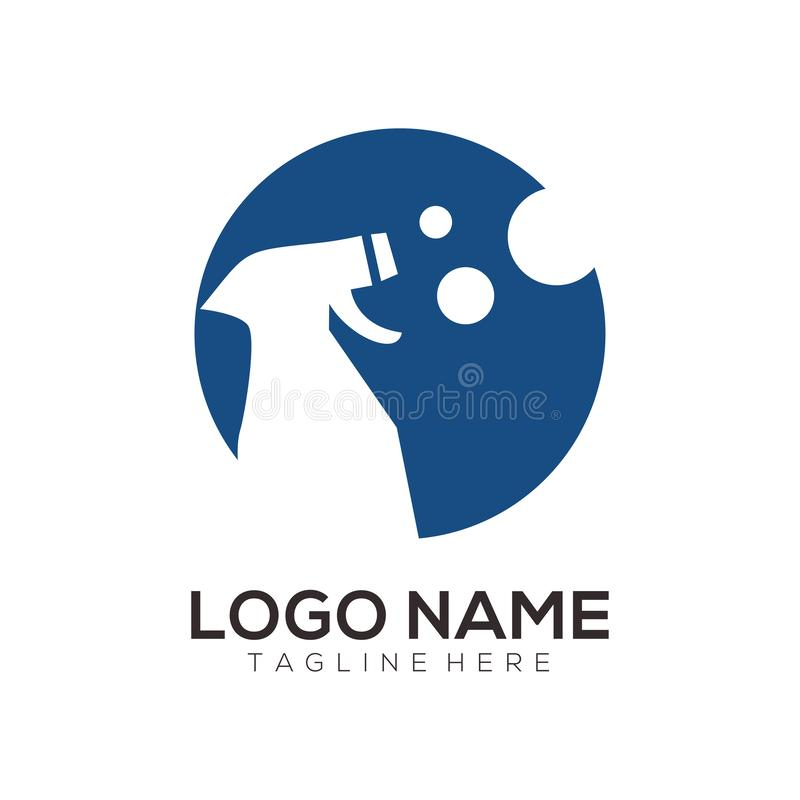 Projeto limpo e da manutenção do logotipo do ícone ilustração royalty free