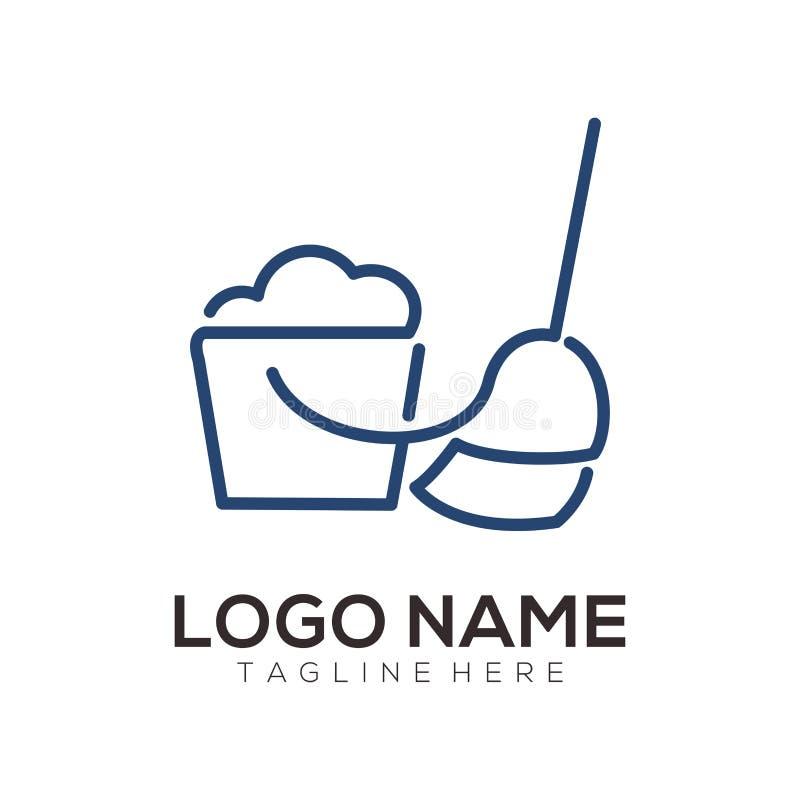 Projeto limpo e da manutenção do logotipo do ícone ilustração stock