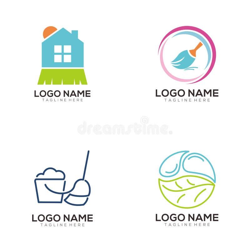 Projeto limpo e da manutenção do logotipo do ícone ilustração do vetor