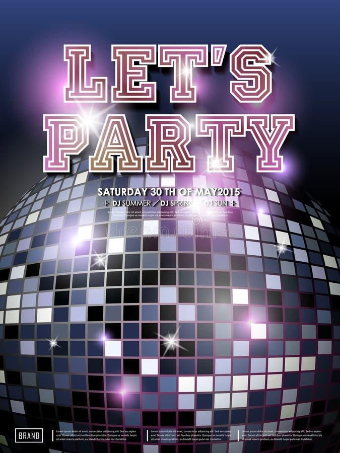 Projeto lindo do cartaz do dance party ilustração do vetor