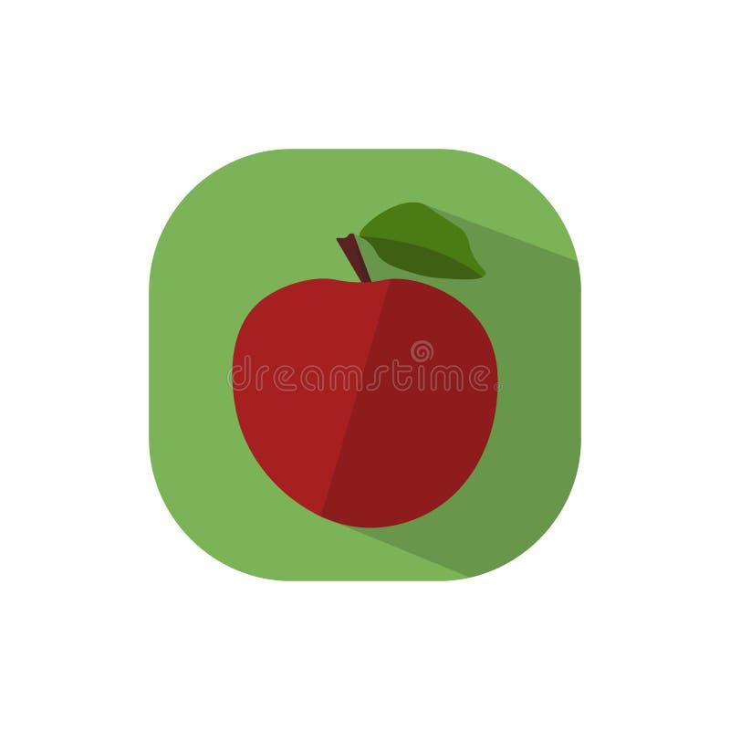 Projeto liso Apple vermelho ilustração do vetor