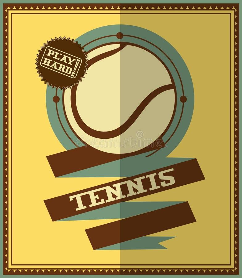 Projeto liso Cartaz retro do tênis ilustração royalty free