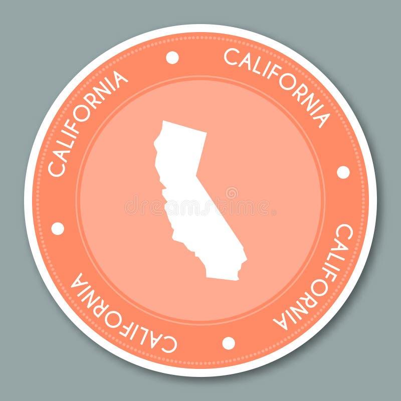 Projeto liso da etiqueta da etiqueta de Califórnia ilustração royalty free