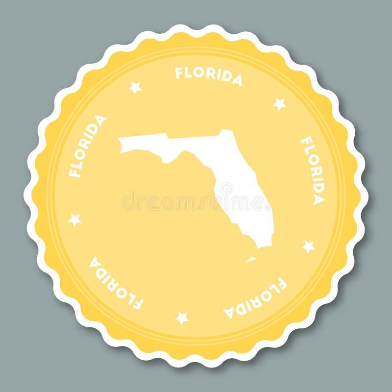 Projeto liso da etiqueta de Florida ilustração royalty free