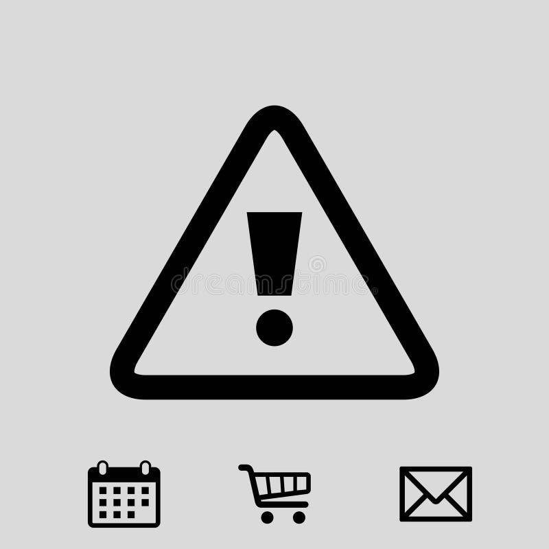 Projeto liso da ilustração alerta do vetor do estoque do ícone ilustração royalty free