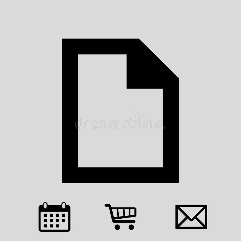 Projeto liso da ilustração do vetor do estoque do ícone do arquivo ilustração do vetor
