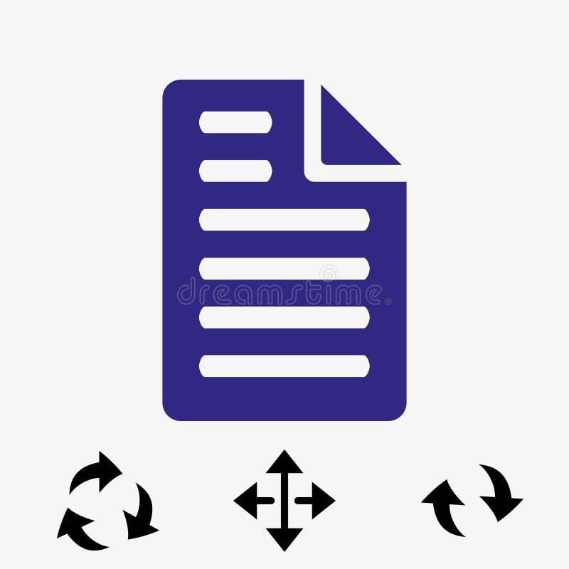 Projeto liso da ilustração do vetor do estoque do ícone do arquivo ilustração stock