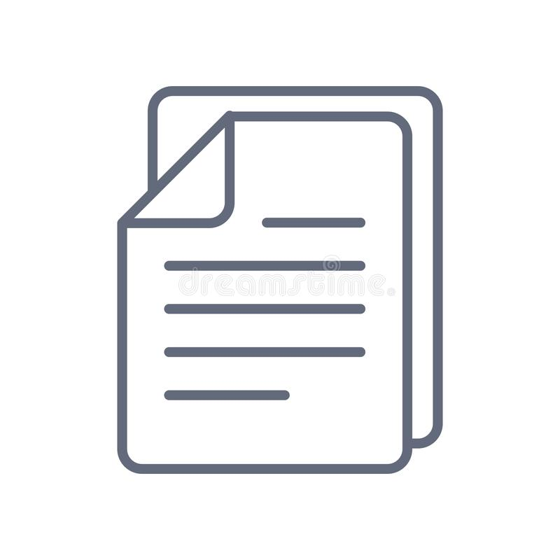 Projeto liso da ilustração do vetor do estoque do ícone de documentos ?cone do vetor no fundo branco ilustração royalty free