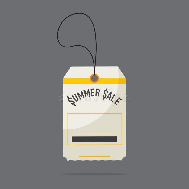 Projeto liso de etiquetas do preço da venda do verão Vetor ilustração royalty free
