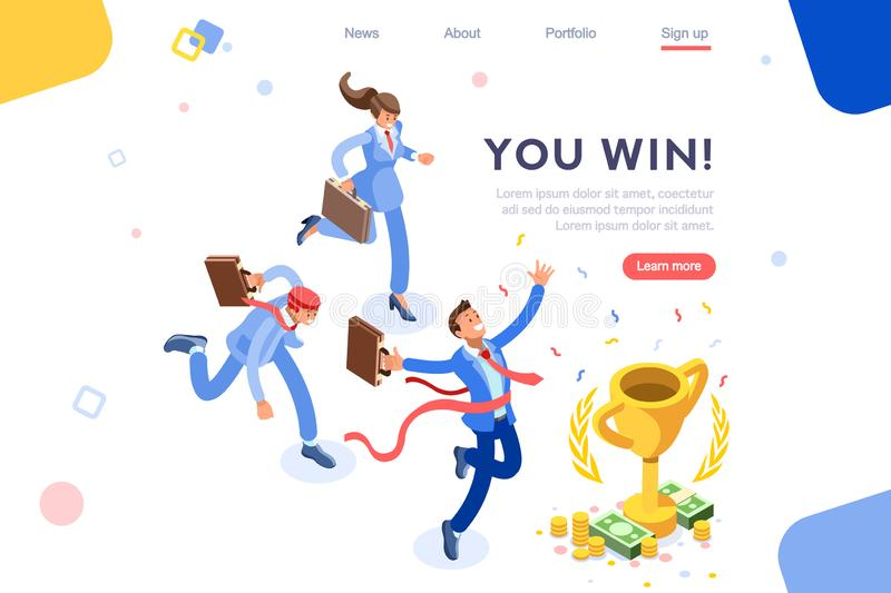 Projeto liso de Victory Cup Reward Prize Concept ilustração do vetor