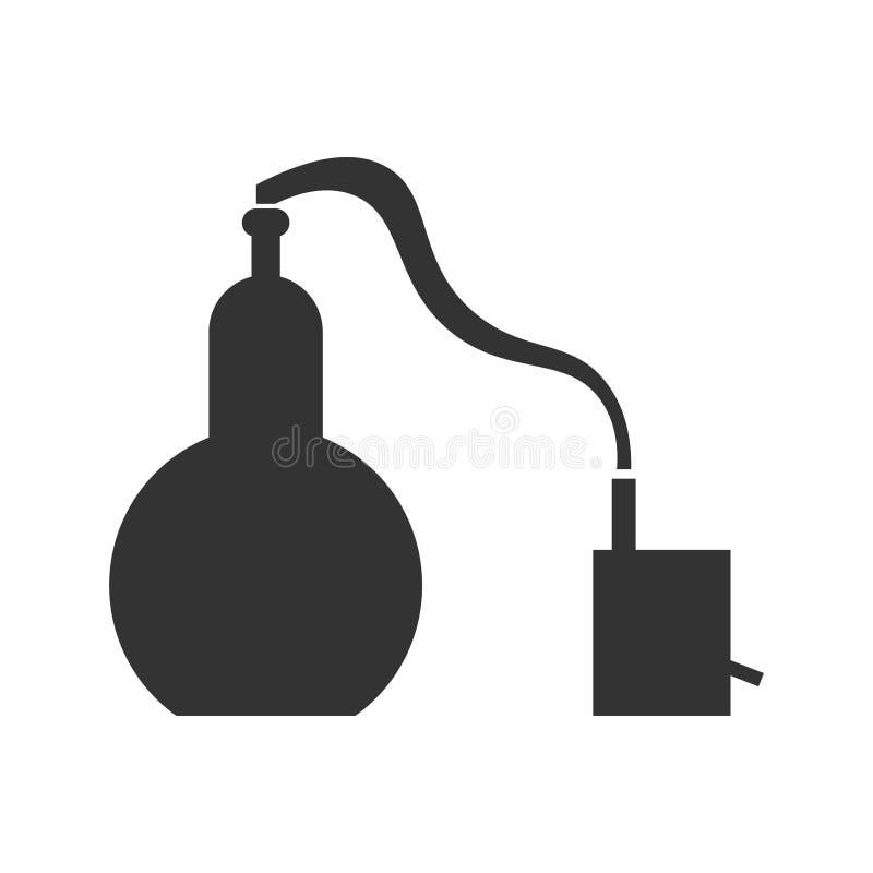 Projeto liso do Alembic O processo químico é uma amostra ilustração do vetor