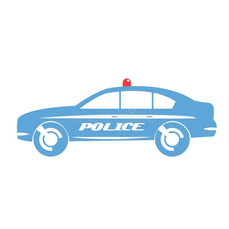 Projeto liso do carro de polícia ilustração stock
