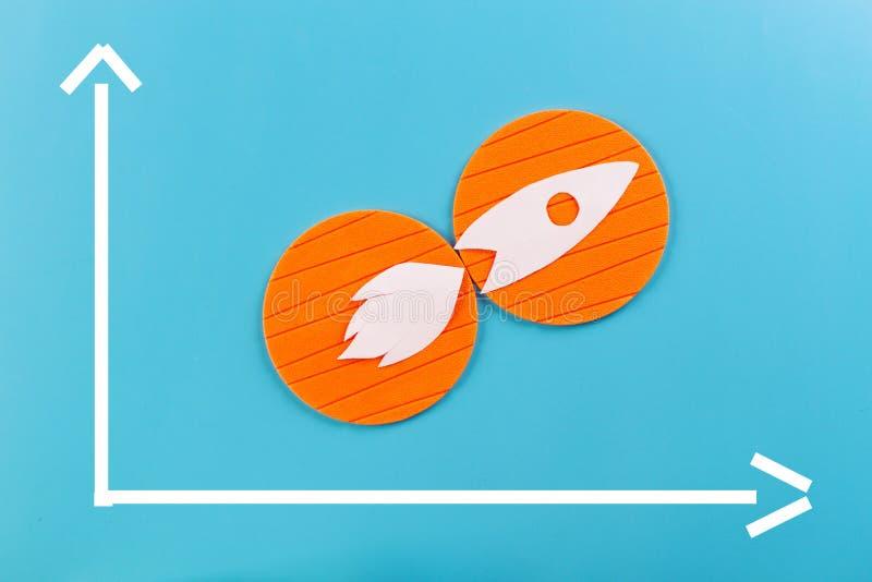 Projeto liso do ?cone de Rocket imagens de stock