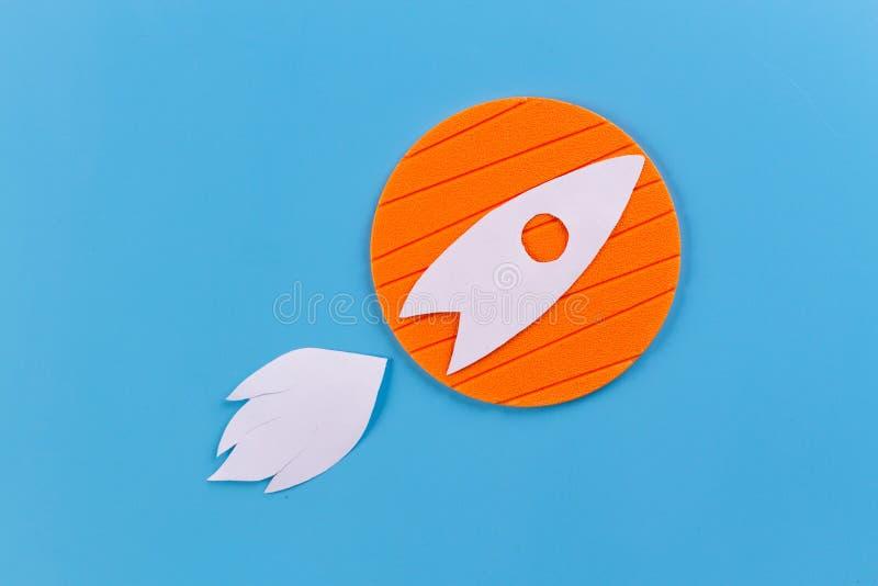 Projeto liso do ?cone de Rocket fotos de stock royalty free