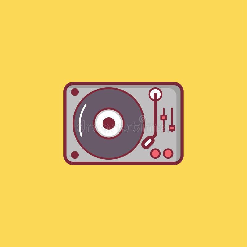 Projeto liso do elemento da ilustração do ícone da música imagens de stock