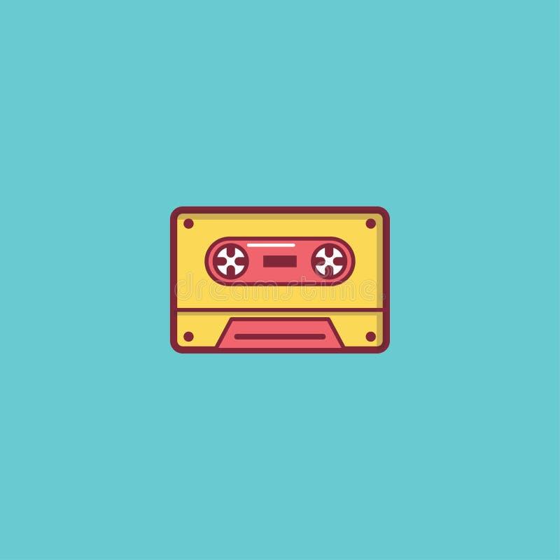 Projeto liso do elemento da ilustração do ícone da música foto de stock