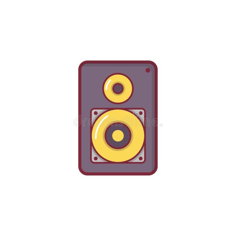 Projeto liso do elemento da ilustração do ícone da música imagem de stock