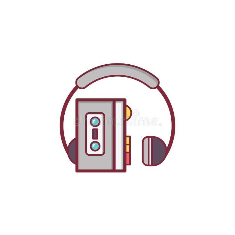 Projeto liso do elemento da ilustração do ícone da música foto de stock royalty free