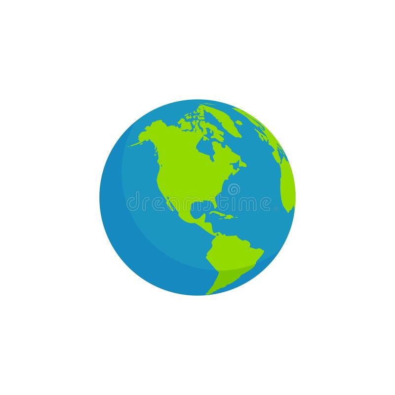 Projeto liso do globo do estilo ilustração do vetor