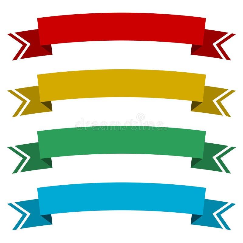 Projeto liso do vetor da fita da bandeira ilustração do vetor