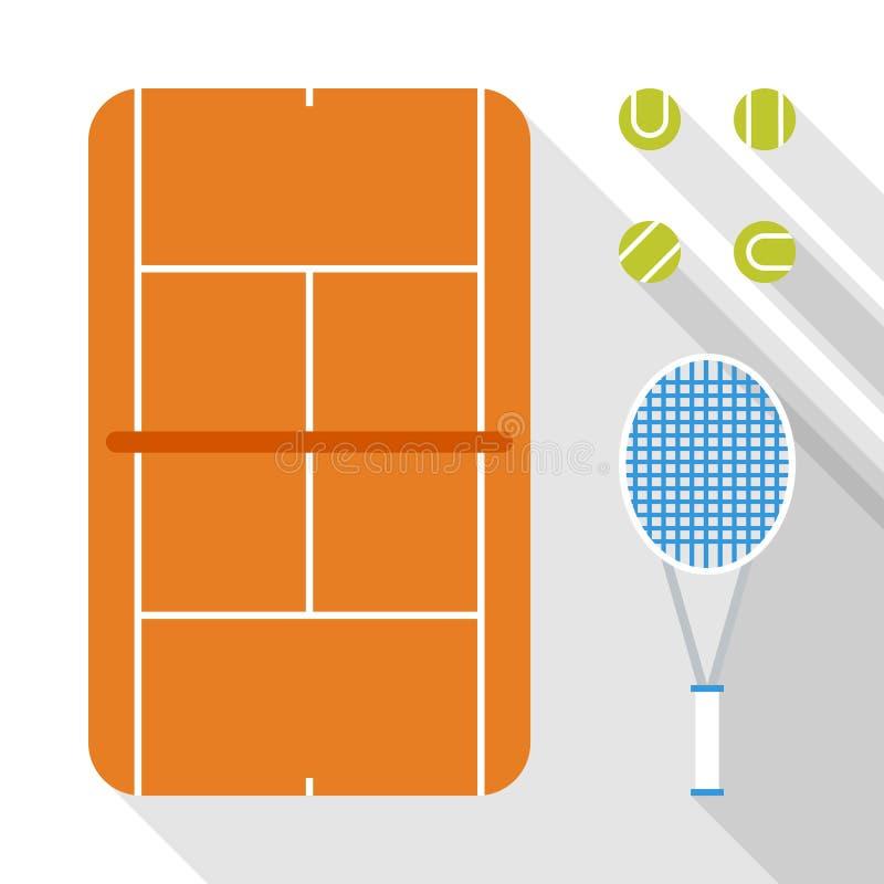 Projeto liso dos ícones do tênis fotos de stock