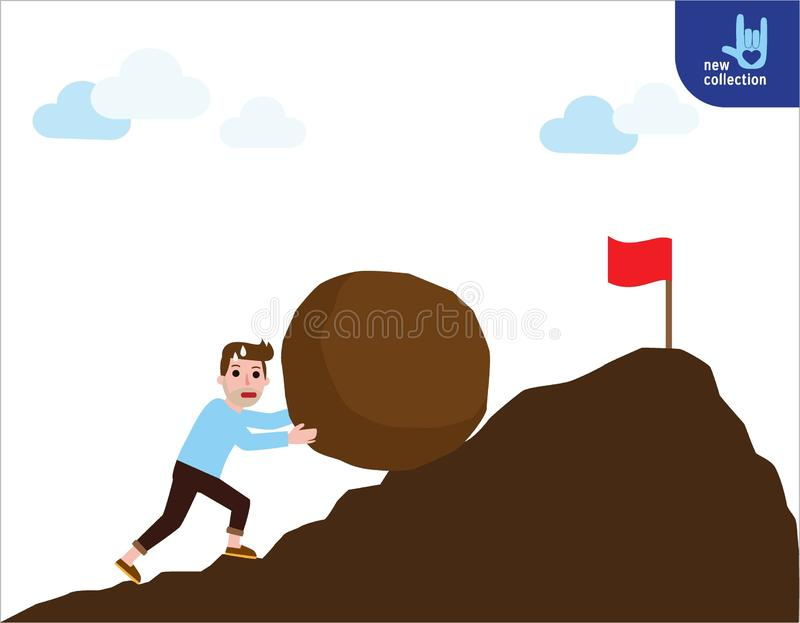 Projeto liso dos desenhos animados do vetor do negócio conceito do fundo da bandeira ilustração stock