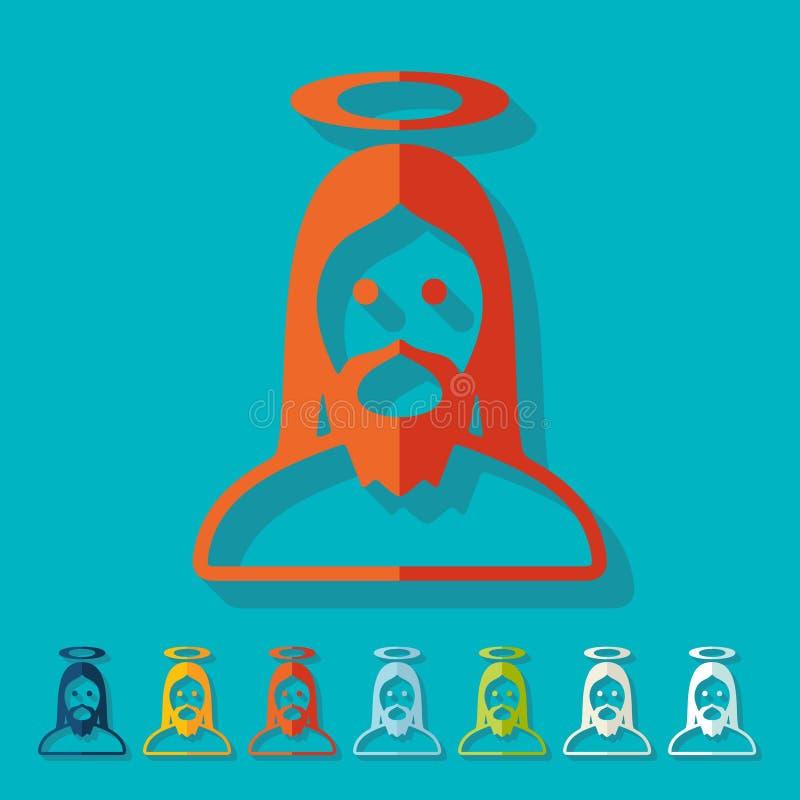 Projeto liso jesus ilustração do vetor