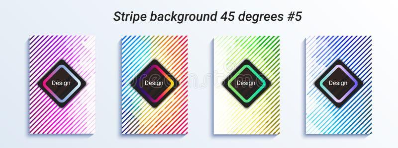 Projeto listrado mínimo do bakcground Inclinação de intervalo mínimo colorido Teste padrão geométrico brilhante Ilustração do vet ilustração do vetor