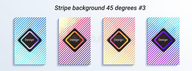 Projeto listrado mínimo do bakcground Inclinação de intervalo mínimo colorido Teste padrão geométrico brilhante Ilustração do vet ilustração royalty free