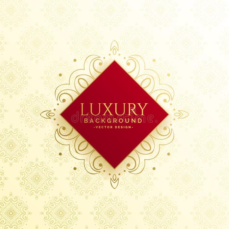 Projeto luxuoso bonito do molde do convite ilustração royalty free