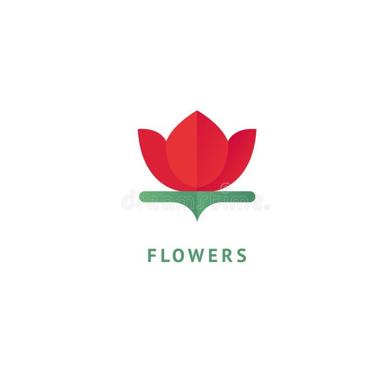 Projeto luxuoso do logotipo da flor do vetor Sinal floral ornamentado do casamento Elemento superior simples moderno do vetor do  ilustração do vetor