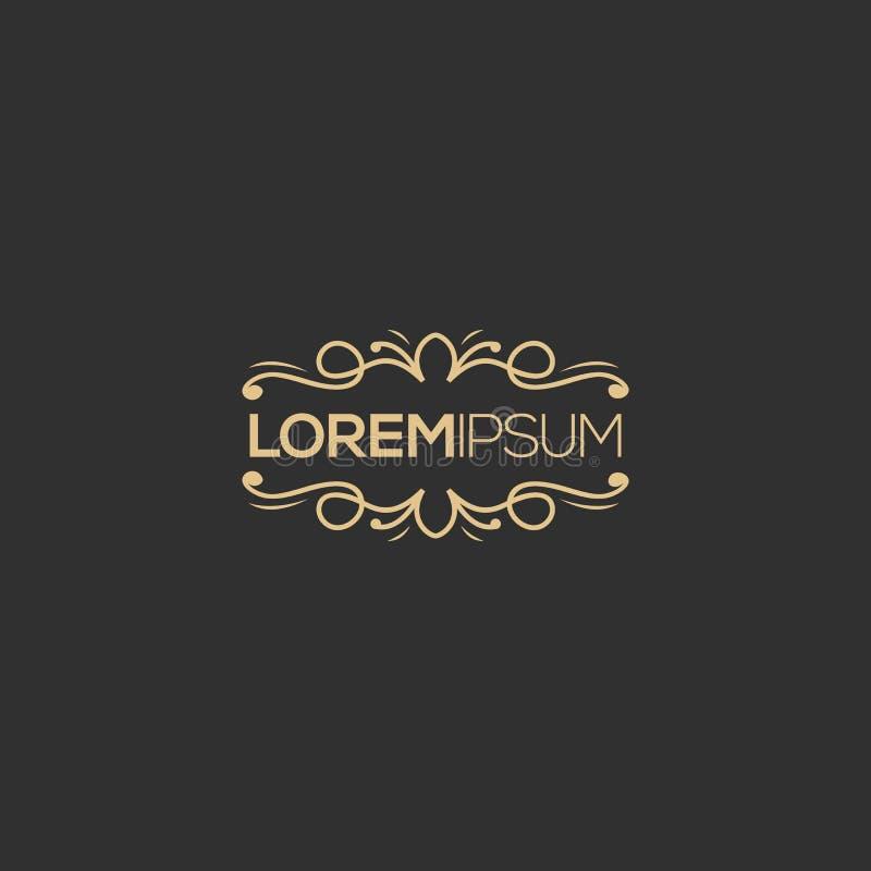 Projeto luxuoso do logotipo, vetor, ilustração pronto para uso para sua empresa ilustração do vetor
