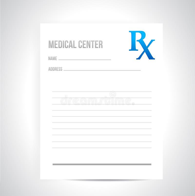 Projeto médico da ilustração da prescrição ilustração stock
