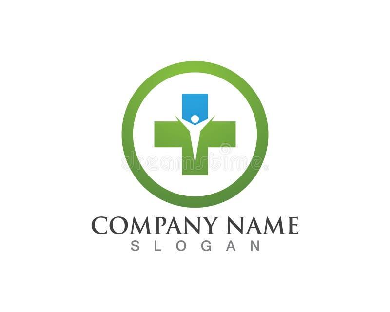 Projeto médico da ilustração do vetor do molde do logotipo da saúde ilustração royalty free