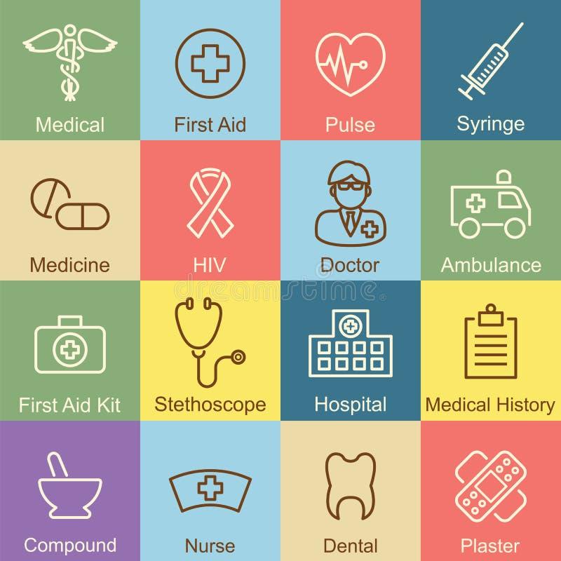 Projeto médico do esboço ilustração stock