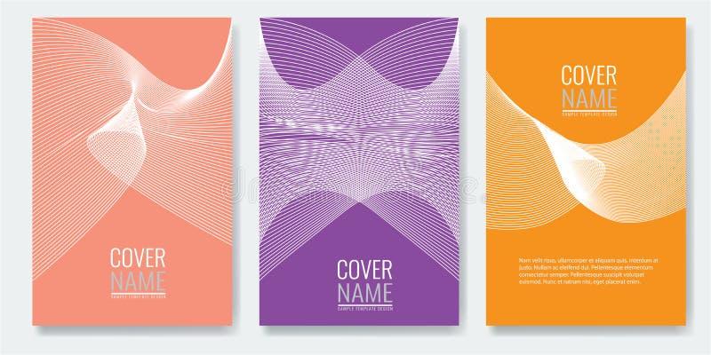 Projeto mínimo das tampas Testes padrões geométricos futuros igualmente úteis para seu app para smartphones ilustração stock