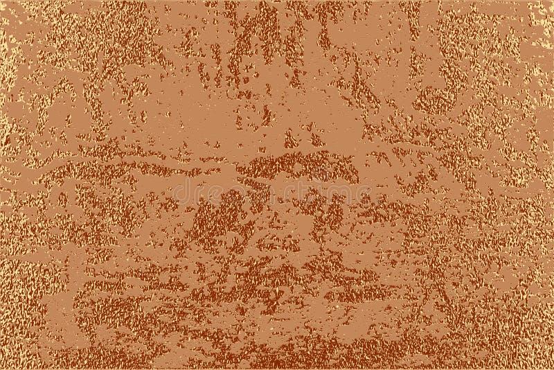 Projeto mínimo moderno e à moda Fundo lustroso de cobre Textura metálica Metal de bronze ilustração do vetor