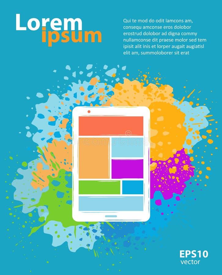 Projeto móvel da aplicação do app ilustração stock
