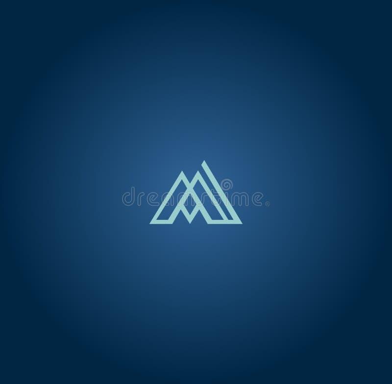 Projeto mais atrasado impressionante de M Logo ilustração royalty free