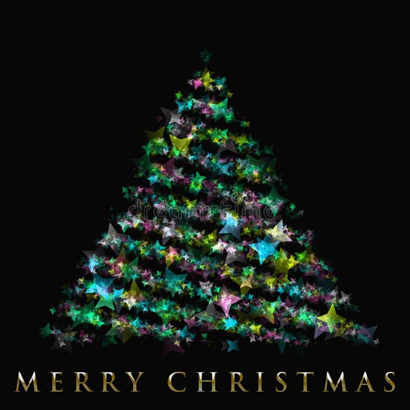 Projeto maravilhoso da árvore de Natal ilustração stock