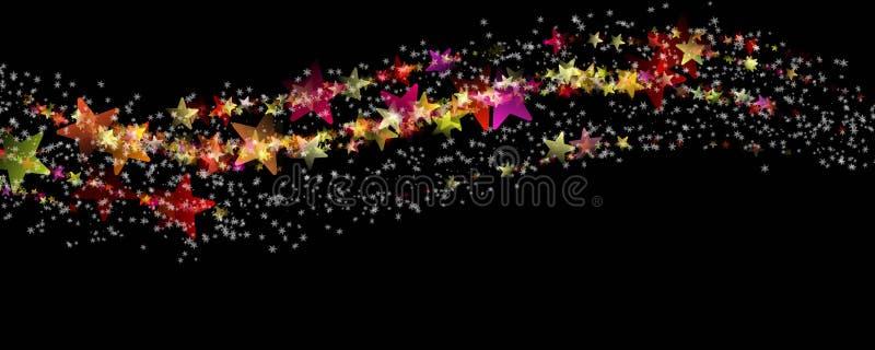 Projeto maravilhoso do fundo do panorama do Natal ilustração royalty free