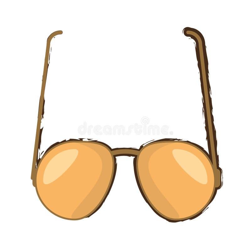 projeto marrom do ícone dos óculos de sol ilustração royalty free