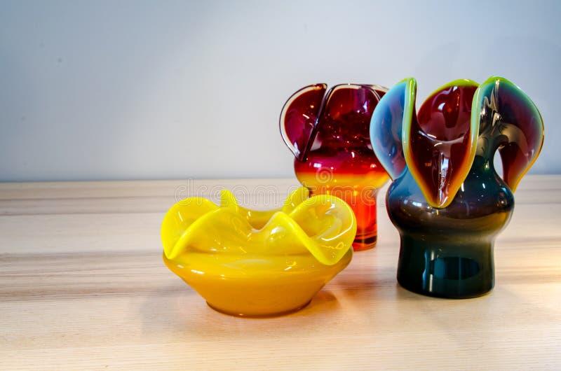 Projeto meados de polonês do século, vasos imagens de stock