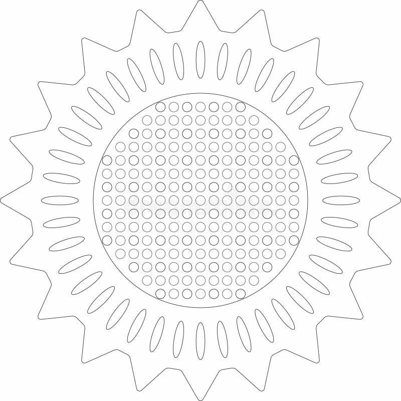 projeto mediterrâneo Linha-baseado do embossment com preto imagem de stock