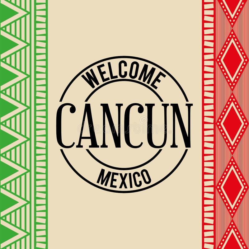 Projeto mexicano da cultura ilustração do vetor